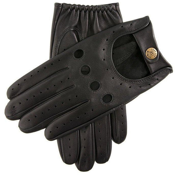 Delta Classic Leather Driving Glove in Black - croftonandhall
