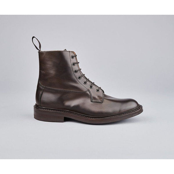 Burford Plain Derby Country Boot in Expresso Burnished - croftonandhall