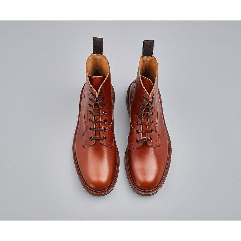 Burford Plain Derby Country Boot in Marron - croftonandhall
