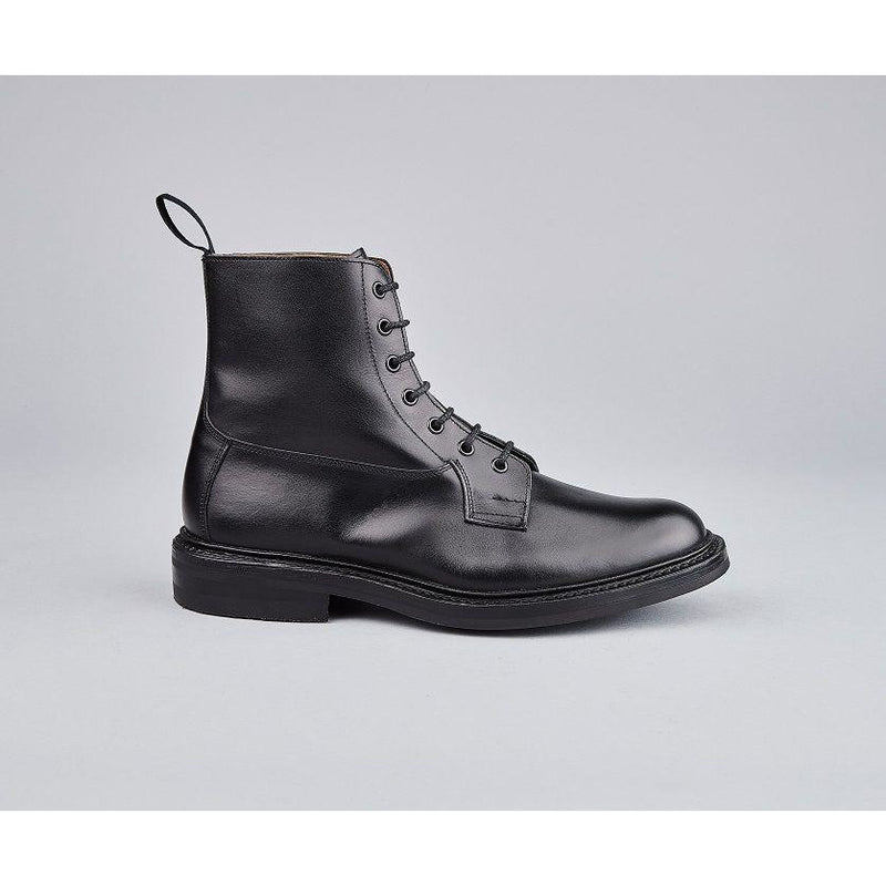Burford Plain Derby Country Boot in Black - croftonandhall