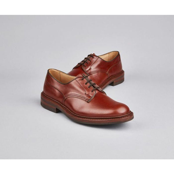 Woodstock Plain Derby Shoe in Marron - croftonandhall
