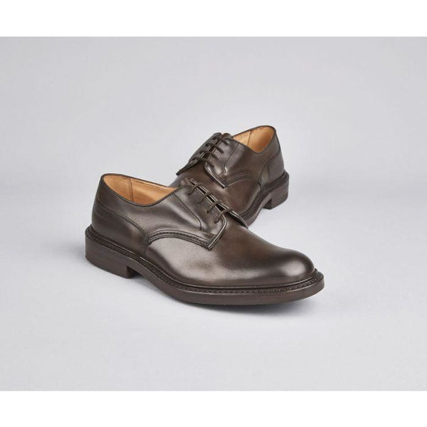 Woodstock Plain Derby Shoe in Expresso - croftonandhall