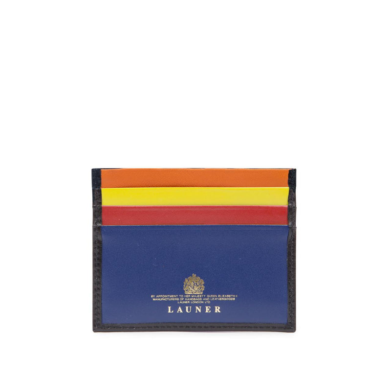 Slim Six Credit Card Holder in Multi Colour - croftonandhall