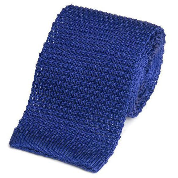 Knitted Silk (Royal Blue) Tie - Crofton & Hall