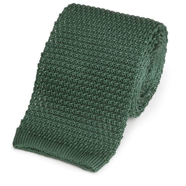 Knitted Silk (Racing Green) Tie - Crofton & Hall