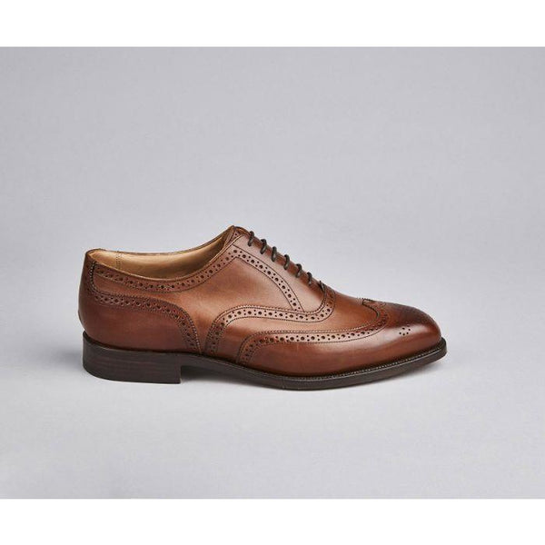 Piccadilly Brogue Oxford in Beechnut - croftonandhall