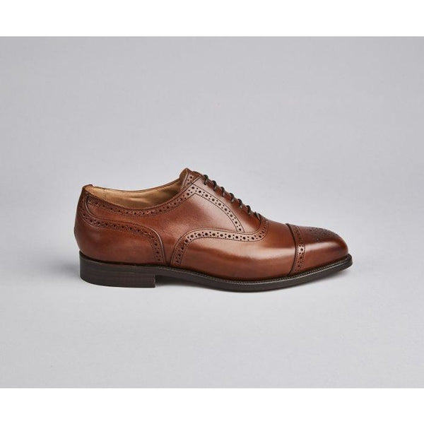 Kensington Semi Brogue Toecap Oxford in Beechnut - croftonandhall