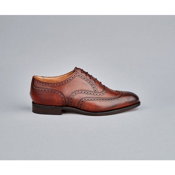 Norfolk Brogue Oxford Shoe in Chestnut - croftonandhall