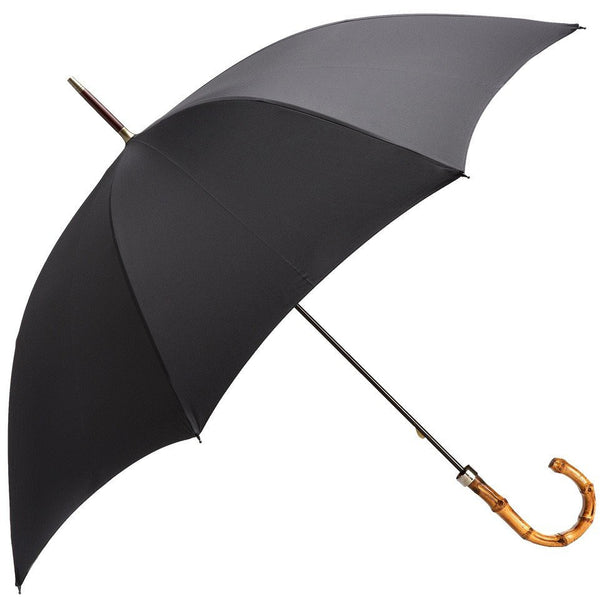Black Whangee Handle Walking Umbrella - croftonandhall