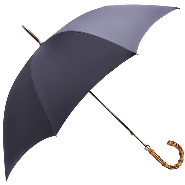 Navy Whangee Handle Walking Umbrella - croftonandhall