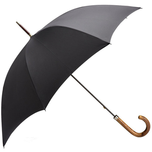 Black Light Grain Ash Handle Walking Umbrella - Crofton & Hall