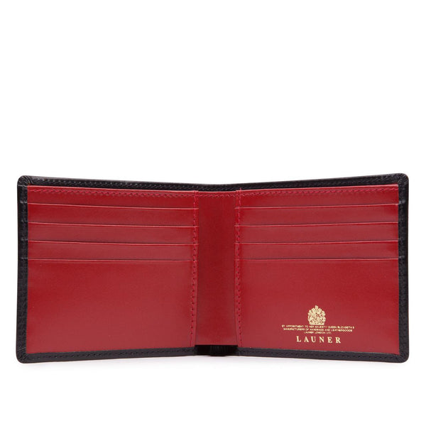 Eight Credit Card Wallet in Ebony Black & Scarlet - croftonandhall