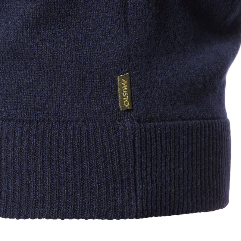 Lambswool V Neck Knit in Navy - croftonandhall