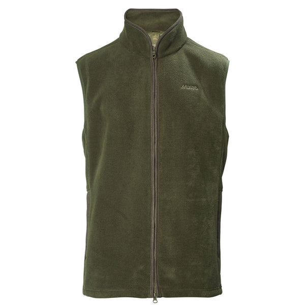 Glemsford Polartec Fleece Gilet in Dark Moss - croftonandhall