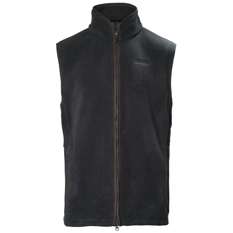 Glemsford Polartec Fleece Gilet in Carbon - croftonandhall