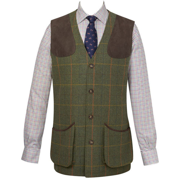 Burghley Tweed Shooting Gilet - croftonandhall