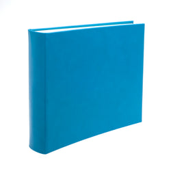 Chelsea Landscape Leather Photo Album in Turquoise - croftonandhall