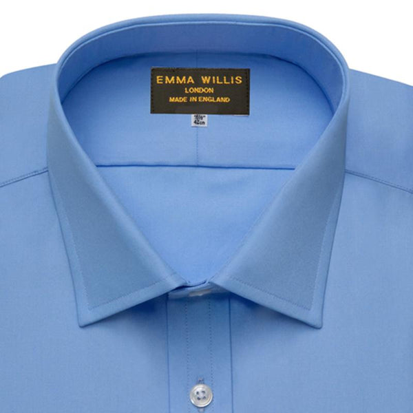 Azure Blue Superior Cotton Shirt - croftonandhall