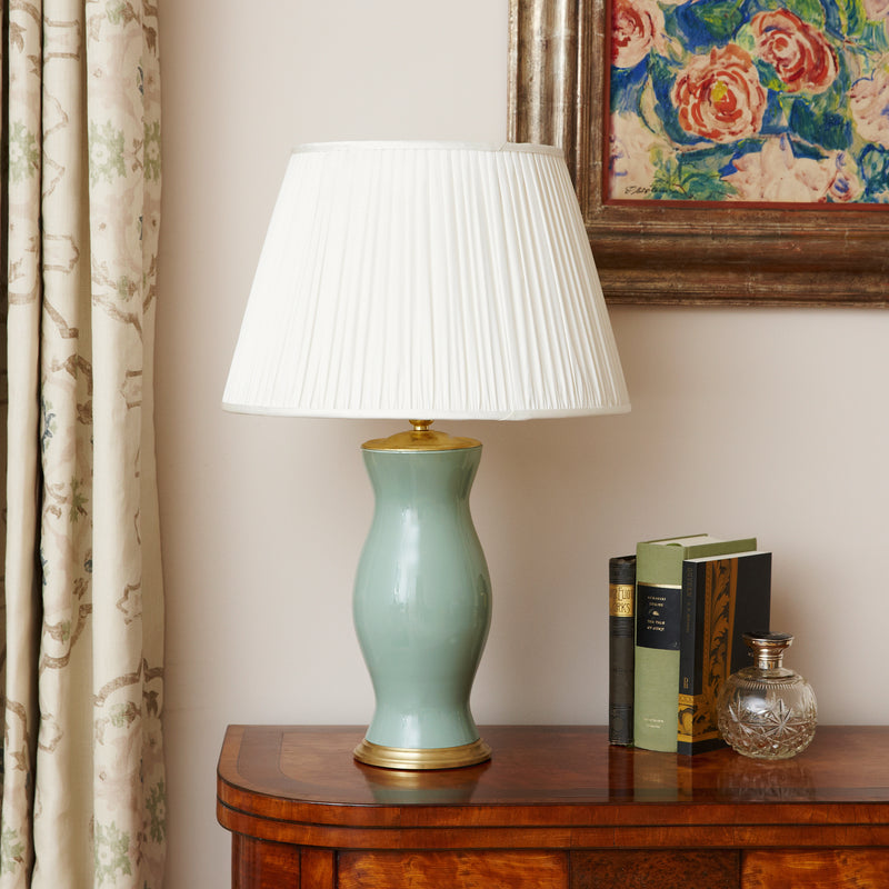 Artichoke Green Medium Lamp Base - croftonandhall