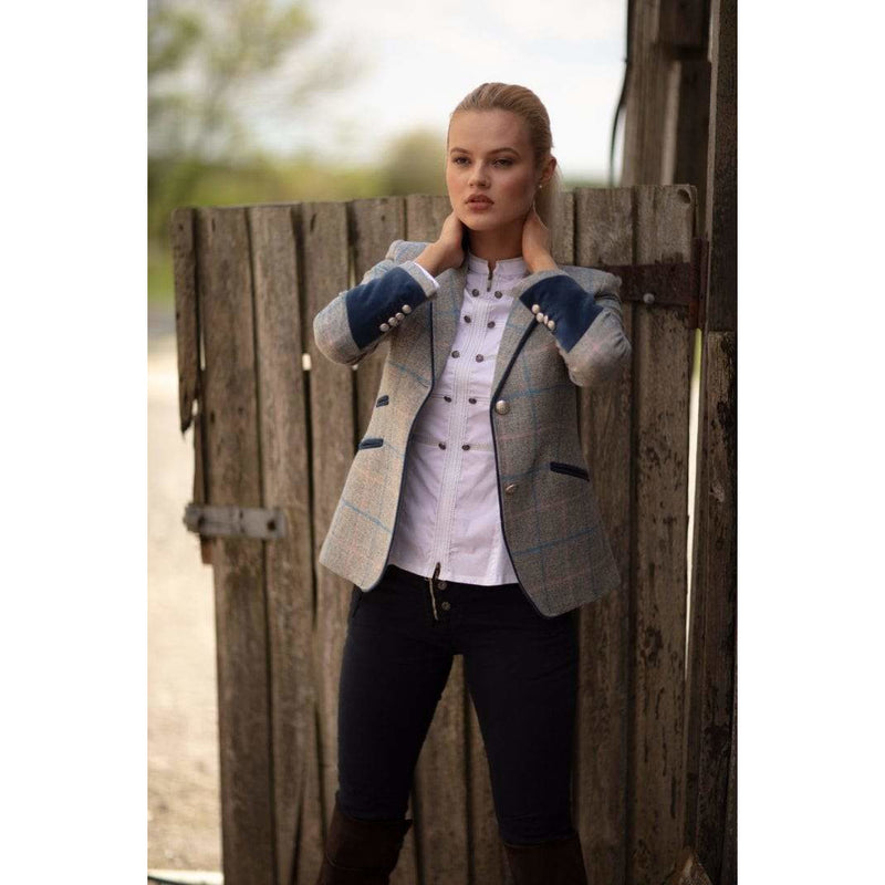 Ascot Grey Wool Fitted Jacket - croftonandhall