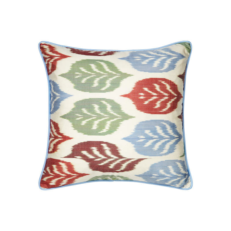 Silk Autumnal IKAT Square Cushion - croftonandhall