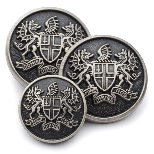 City Of London (Antique Silver) Blazer Button - croftonandhall