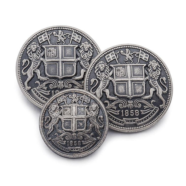 East India Company (Antique Silver) Blazer Button - croftonandhall