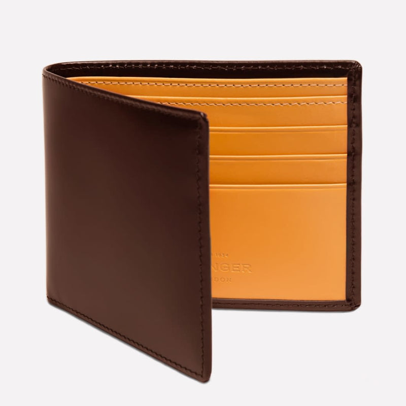Bridle Hide Billfold Wallet in Nut and London Tan with 6 c/c - croftonandhall