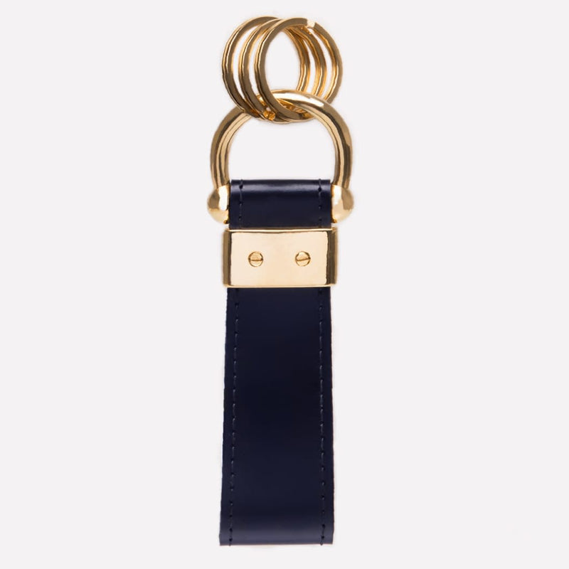 Stirrup Keyring in Navy and Gold - croftonandhall