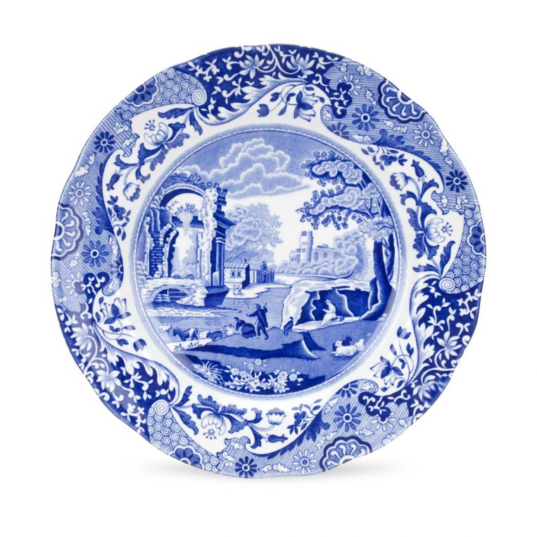 Blue Italian 9 inch Dinner Plates Set of 4 - croftonandhall