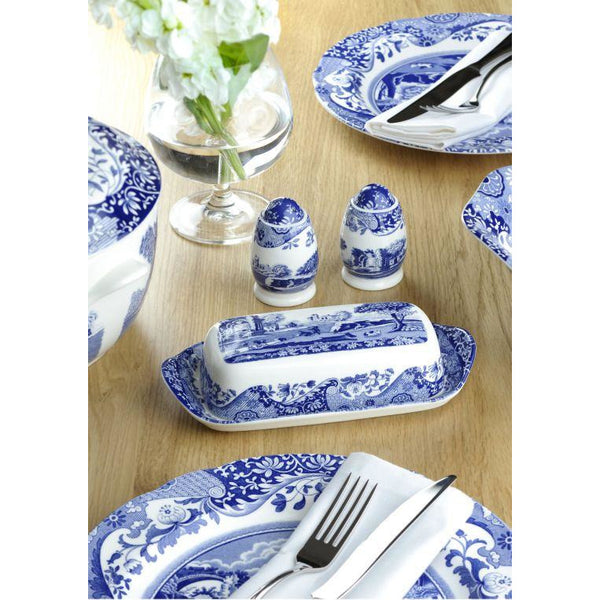 Blue Italian 8 inch Side Plates Set of 4 - croftonandhall