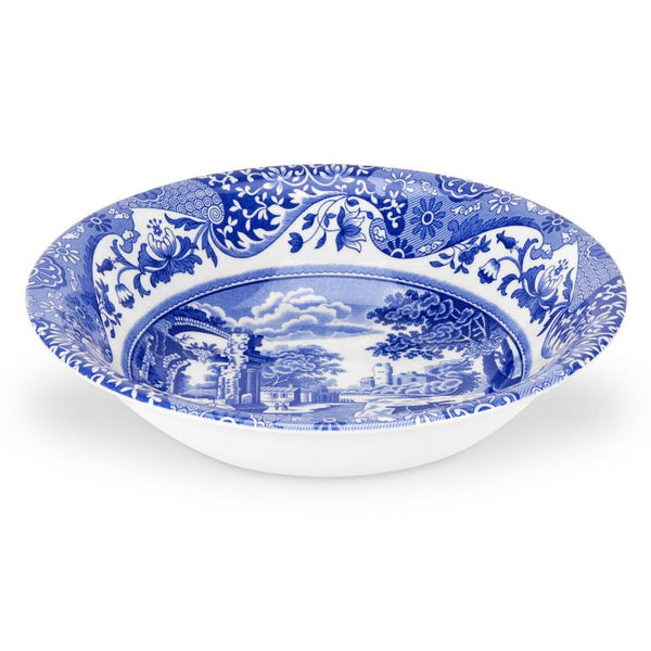 Blue Italian 8 inch Cereal Bowls Set of 4 - croftonandhall