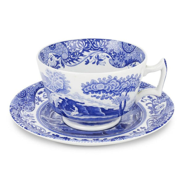 Blue Italian Breakfast Cups and Saucers Set of 4 - Crofton & Hall