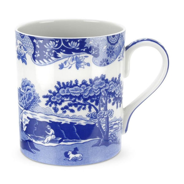 Blue Italian Set of 4 Large Mugs - croftonandhall
