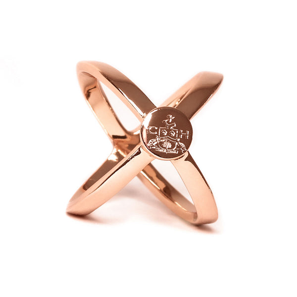 Rose Gold Scarf Ring - Crofton & Hall