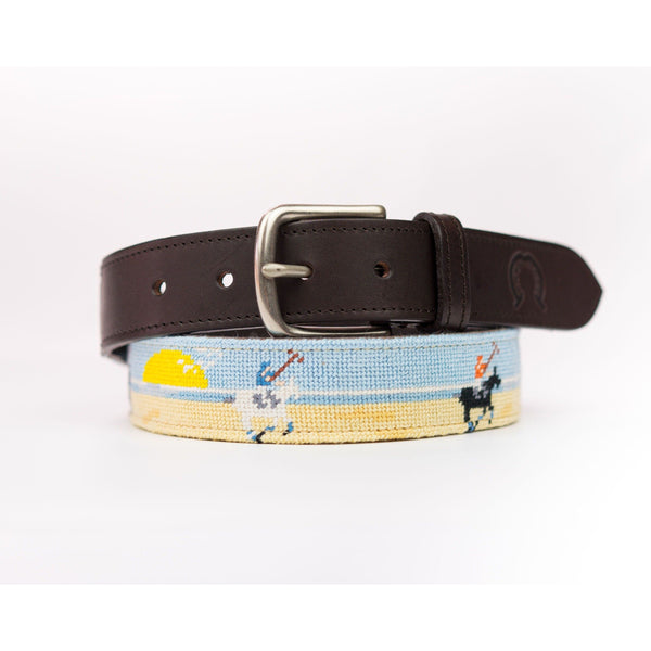 Needlepoint Belt - Beach Polo - croftonandhall
