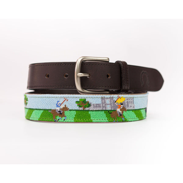 Needlepoint Belt - British Polo - Crofton & Hall