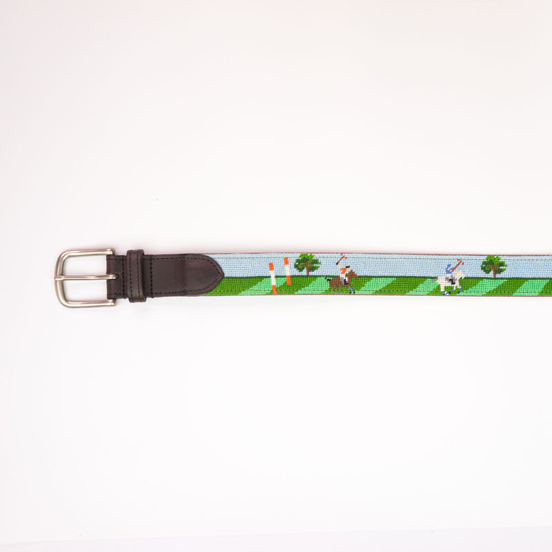 Needlepoint Belt - British Polo - croftonandhall