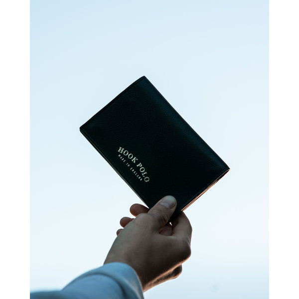 Travel Wallet - Black Leather Elephants - croftonandhall