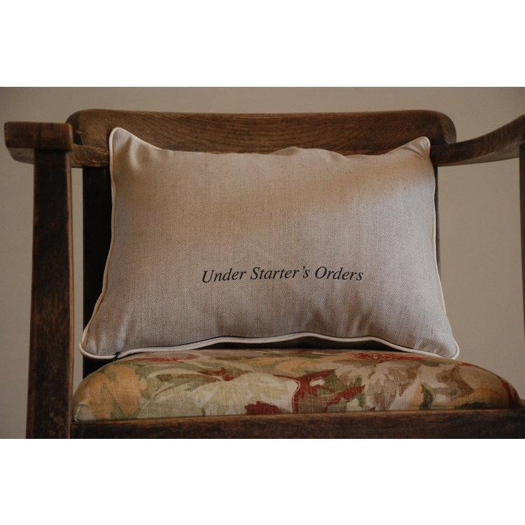 Envelop Cushion, 'UNDER STARTERS ORDERS' By Sir Alfred Munnings - croftonandhall
