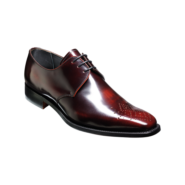 Darlington Derby Shoe in Brandy Hi-Shine Leather - croftonandhall