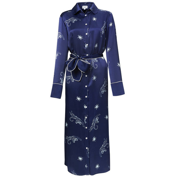 Micah Sofia Silk Shirt Dress - croftonandhall