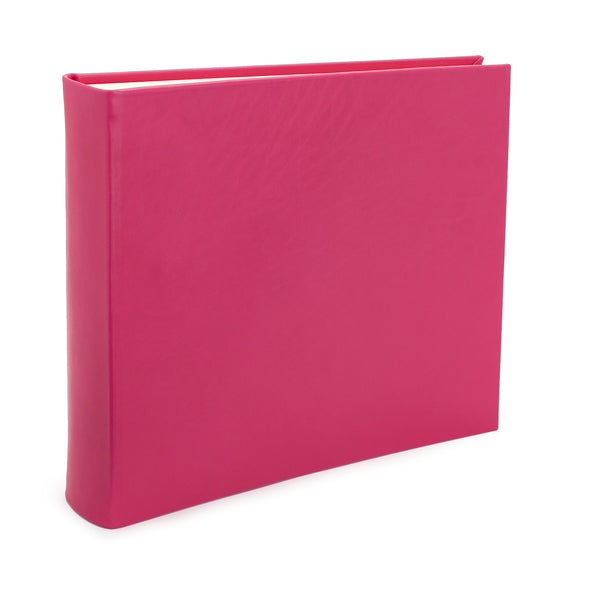 Chelsea Square Leather Photo Album in Pansy - croftonandhall
