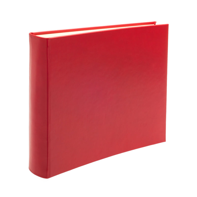 Chelsea Square Leather Photo Album in Poppy - croftonandhall