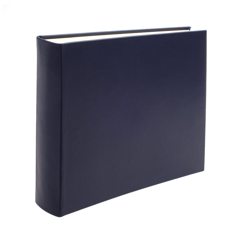Chelsea Square Leather Photo Album in Sapphire - croftonandhall