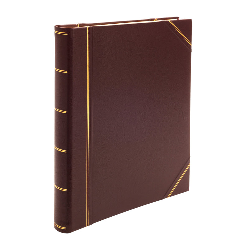 Original Large Leather Portrait Scrapbook in Burgundy - Crofton & Hall