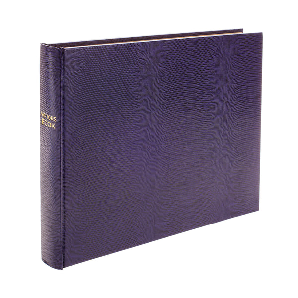 Jubilee Plain Landscape Visitors Book in Amethyst - croftonandhall