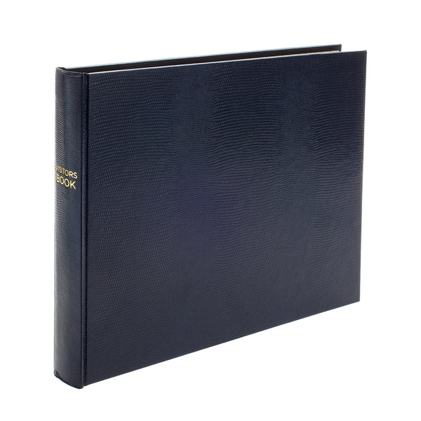 Jubilee Plain Landscape Visitors Book in Navy - croftonandhall
