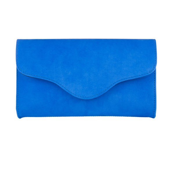 Clutch - Electric Blue Suede - croftonandhall