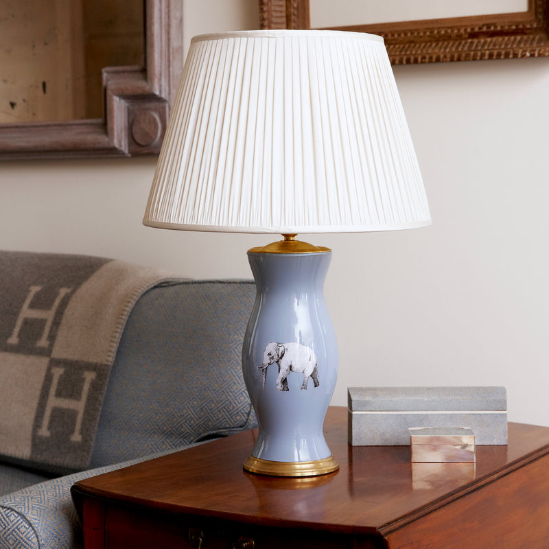 The Elephant in the Room Medium Lamp Base in Blue - croftonandhall